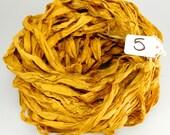 Silk Sari Ribbon, recycled sari ribbon, Sari Silk Ribbon, Gold sari ribbon, Aztec gold ribbon