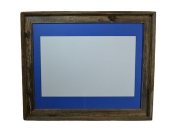 16x20 picture frame with blue mat for 11x14 prints or photo