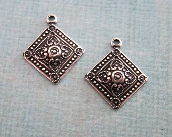 NEW 2 Small Silver Drop Charms 3786S