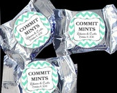 24 York Peppermint Pattie® Stickers - Wedding Favor, Shower Favors, Stickers for Mints and tins - Chevron COMMIT MINTS
