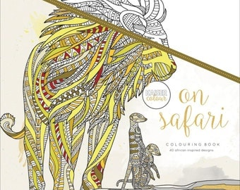 On Safari Coloring Book O KaiserColour Perfect Bound Colouring CL508