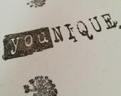 Younique, you are unique, handmade card