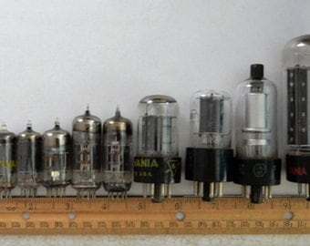 10 for 8...used glass vacuum tubes for assemblage, steampunk art or ???