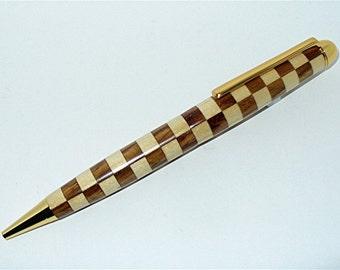 Handmade Euro Style Ballpoint Pen   CHECKERED