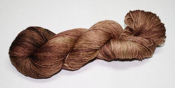 Fall Brown Hand Dyed Sock Yarn