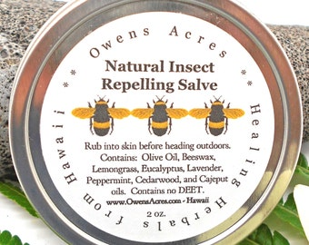 Insect Repelling Salve, All Natural - Lotion for Kids, Camping, Garden, Hiking, Bug Lotion, Insect, Insect Repelling, Bugs, Mosquito