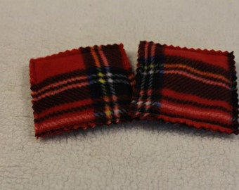Microwavable Reusable Hand Warmers Cold Pack Red Plaid Fleece