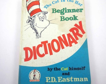 The Cat in the Hat Beginner Book Dictionary Vintage 1960s Children's Book by P.D. Eastman