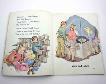 My Little Blue Story Book Vintage 1960s Children's School Reader or Textbook by Ginn and Co.