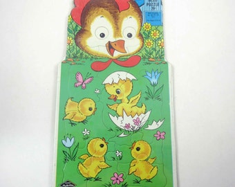 Vintage Shaped Hen or Chicken with Chicks Inlaid Puzzle for Children Unopened Deadstock by Built Rite