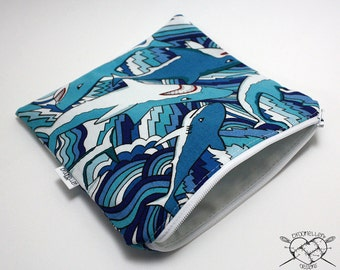 Reusable Sandwich Bag Shark Bite Made To Order