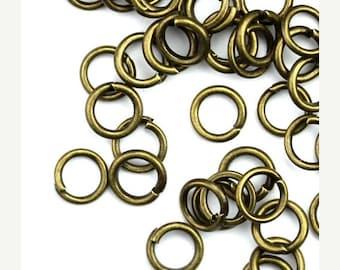 50% OFF SALE Jump Ring Antique Brass 5mm Nickel Free (200) FI772