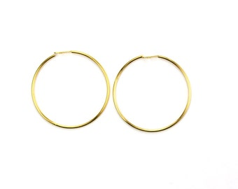 "Gold Plated Beading Hoop 3/4"" Round 23ga (12) FI812"