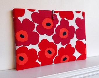 Custom made Sleeve Cover for your laptop or MacBook made with a marimekko style fabric