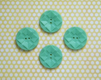 Vintage Plastic or Celluloid Buttons Jadeite Green