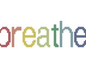 Breathe cross stitch pattern - instant download
