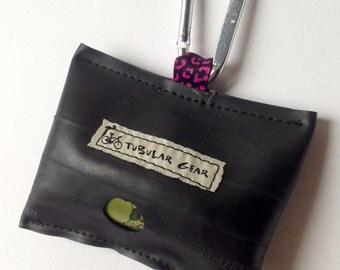 Dark Pink Cheetah Bag Dispenser