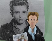 James Dean Doll Miniature Art Collectible 1950s Era Bad Boy Rebel Art Character