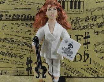 Dottie West Country Music Singer Miniature Sized Art Doll Fun Collectible