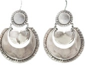 Mexican silver style hoops