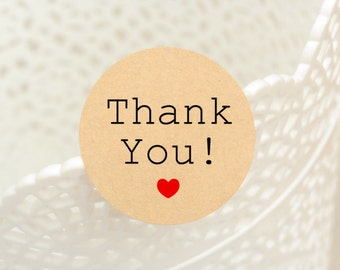 """60 pcs """"Thank You"""" stickers,labels, envelope seals, round stickers (PSB-5005)"""