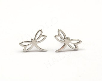 Dragonfly Stainless Steel Earring Post Finding (E33155)