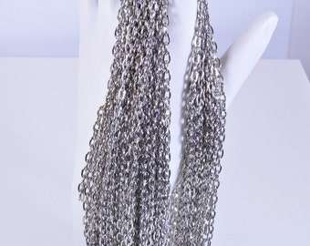 Steel cable chain 5 feet | silver cable chain | 3x4 cable chain | Steel Chain