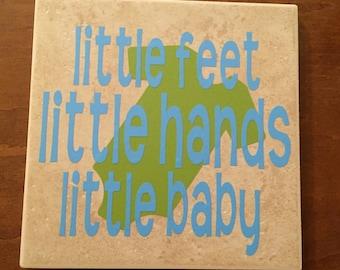 """Little Feet Little Hands Little Baby Dave Matthews Band lyrics 6"""" ceramic Tile"""