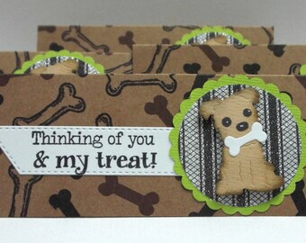 Dog Treat Bag Toppers set of 4 cello bags included