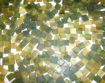 100 1/2 Inch Valley Green Tumbled Stained Glass Mosaic Tiles