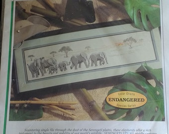 Serengeti Stroll Elephant Cross Stitch Kit