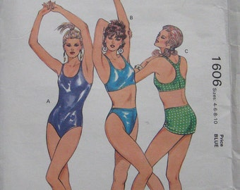 Kwik Sew Misses Swimsuit Pattern 1606