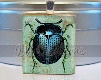 60% OFF CLEARANCE Scrabble tile pendant - Beetle (AM208)