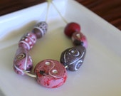 Ceramic African Beads - Tribal Pink Collection