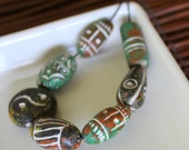 Ceramic African Beads - Forest Green Collection