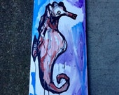 swimming seahorse