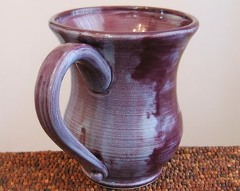 Ugly Purple Pottery Mug 16 oz. Large Stoneware Ceramic Coffee Mug