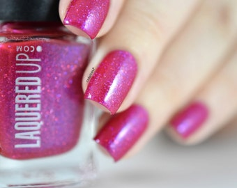 Ruby//Handmade Red Glitter Nail Polish//July// Cruelty Free