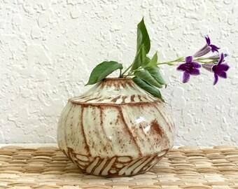 Small Ceramic Bud Vase - Stoneware - Wheel Thrown Pottery - Handmade Pottery Bud Vase