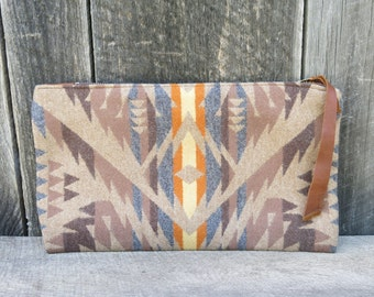 Earth Light Natural Brown Wool Clutch