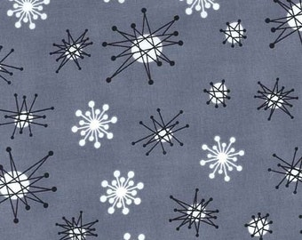 Michael Miller Star Jacks Gray Fabric, 1  yard