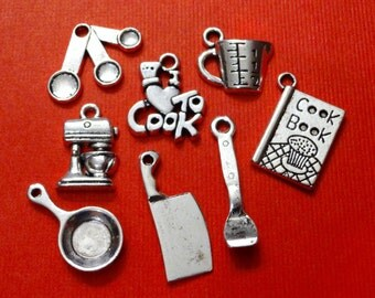 8, Cooking Charm Assorted Collection Theme Charms