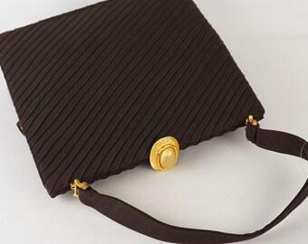 Large Envelope Vintage 60s Handbag Brown by Koret