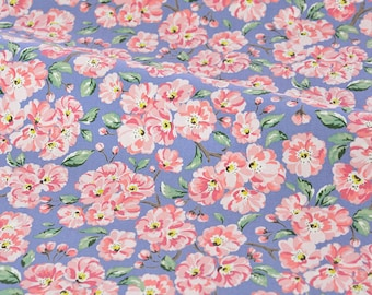 4243 - Cath Kidston Blossom Bunch (Pale Blue) Cotton Canvas Fabric - 57 Inch (Width) x 1/2 Yard (Length)