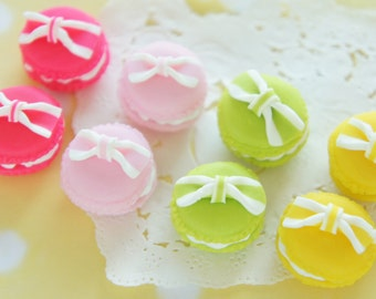 8 pcs Polymer Clay  Macaroon Cabochon (20mmH15mm) Round CD449