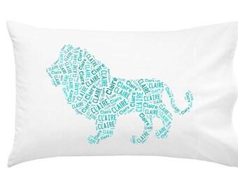 Personalized Lion Pillowcase Room Decor Jungle