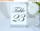 Table Number Holder + Silver Table Number Holder + Silver Wedding Table Number Holders (5inch)- Set of 20