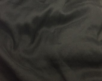 Crinkle Silk Chiffon Fabric - Black - 1/2 Yard