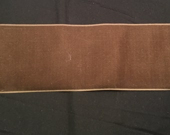 Vintage Wide VELVET Ribbon - MOCHA BROWN -by the yard-