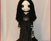 OOAK Hand Stitched Vampire Rag Doll Creepy Gothic Folk Art By Jodi Cain Tattered Rags